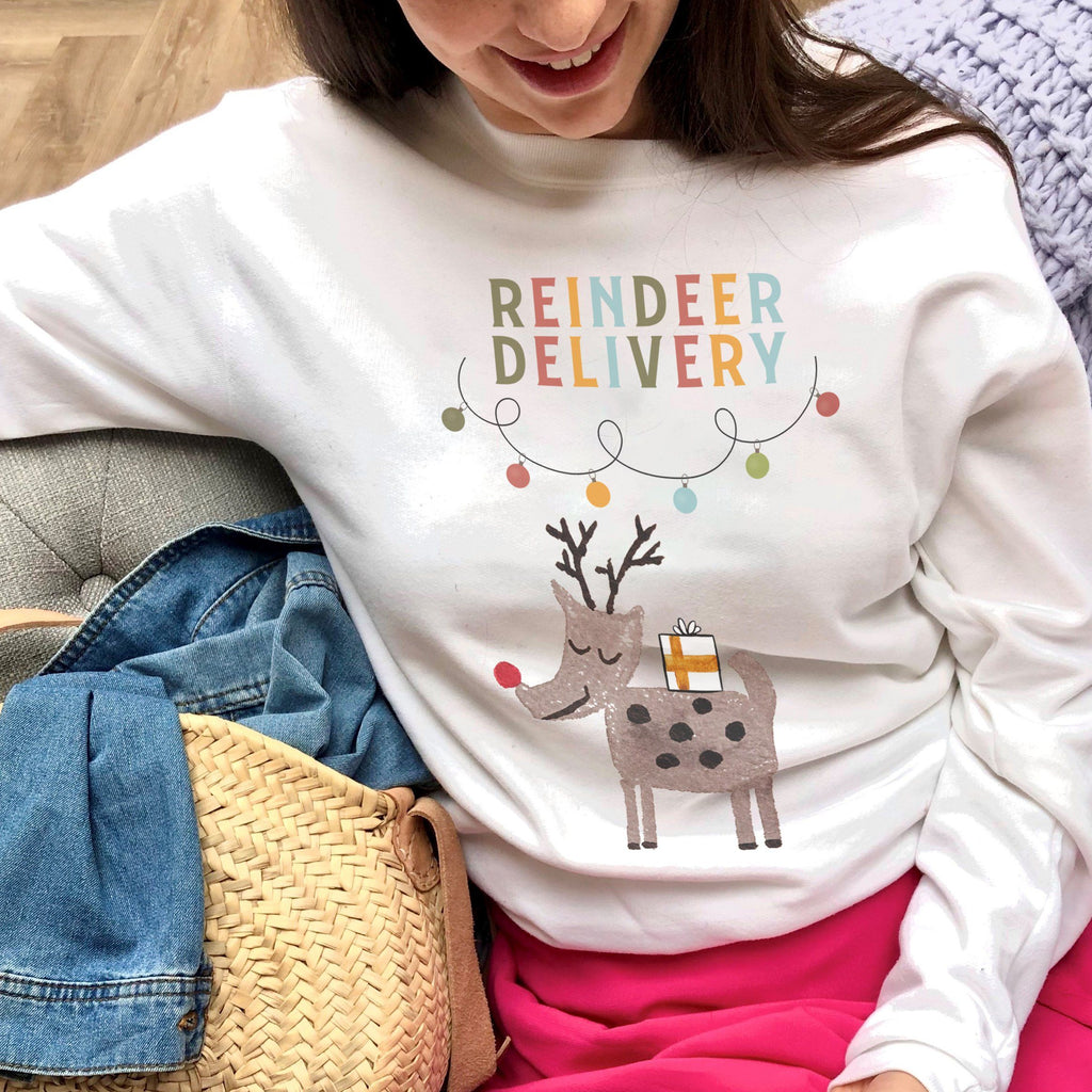 Reindeer Delivery Christmas Jumper