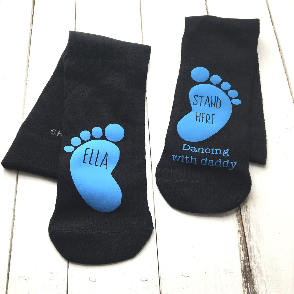 Dancing On Daddy's Feet Personalised Socks, Personalised Socks, - ALPHS