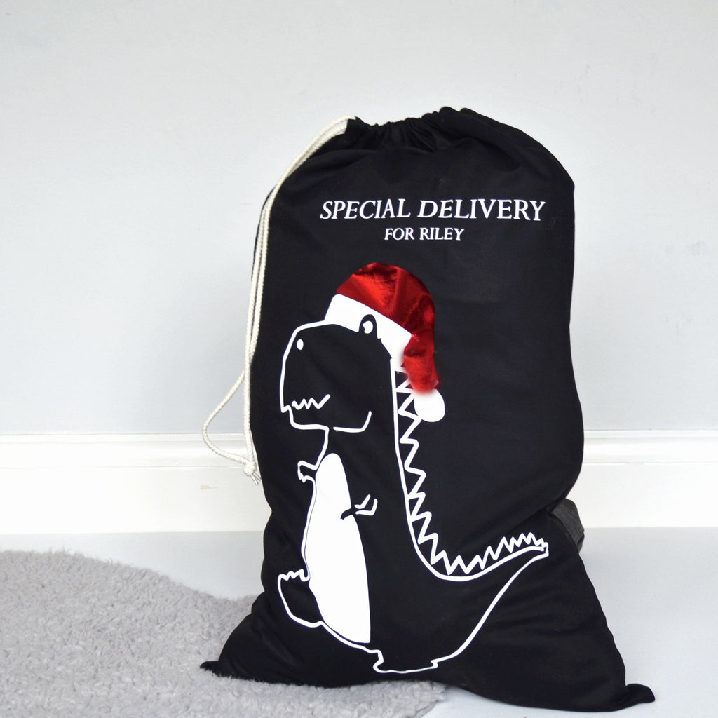 Personalised Dinosaur Christmas Sack, sacks, - ALPHS