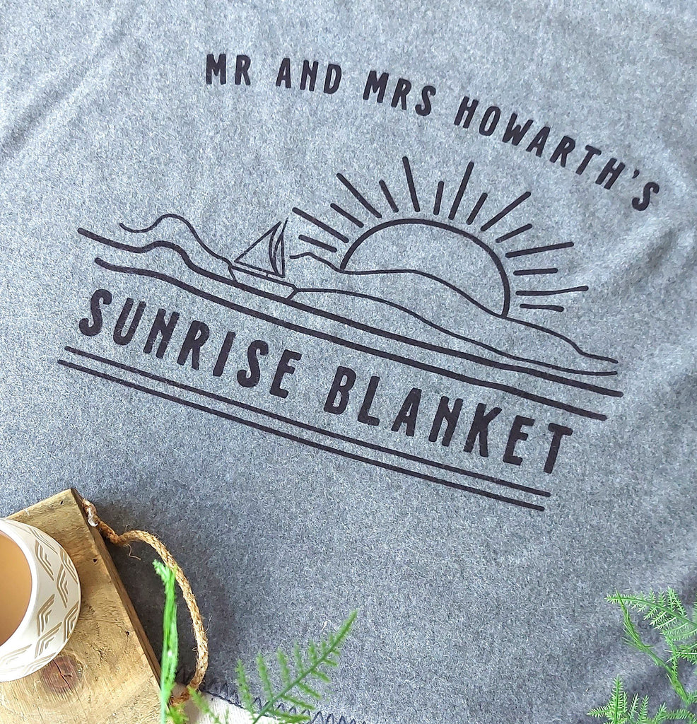 Personalised Sunrise Blanket