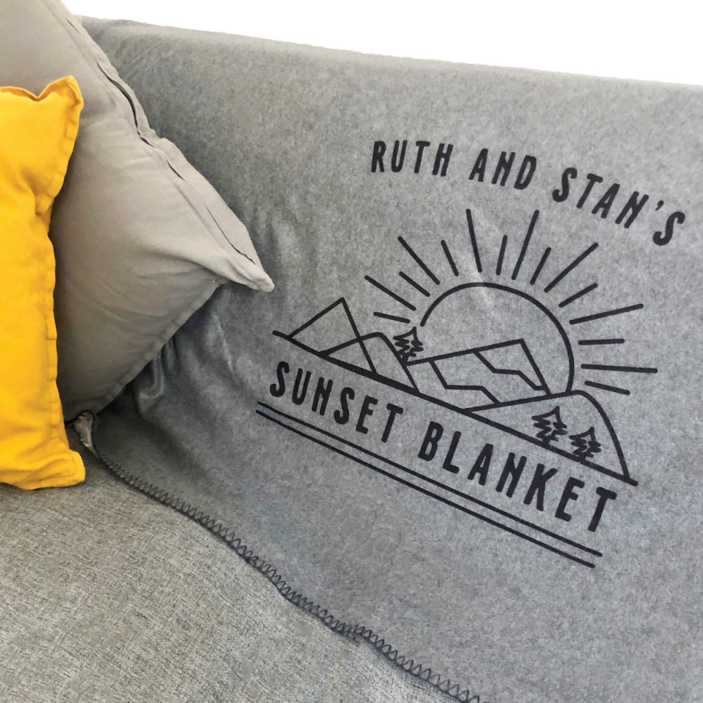 Personalised Sunset Blanket