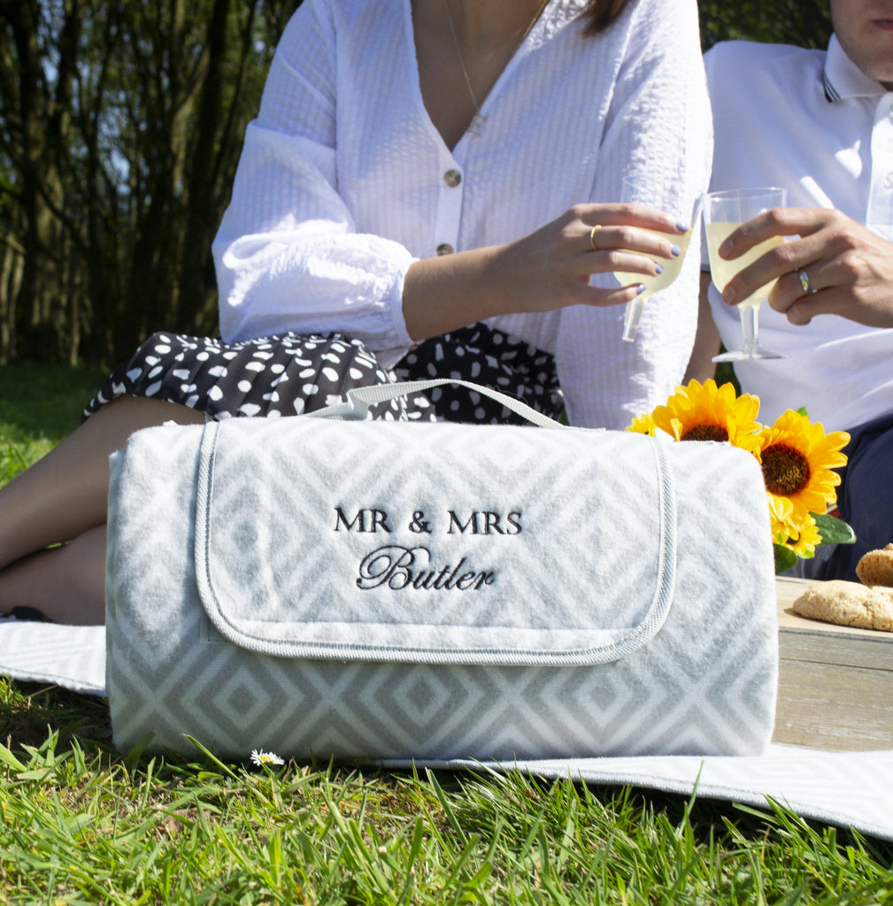 Wedding Gift Personalised Large Picnic Blanket, Blanket, - ALPHS