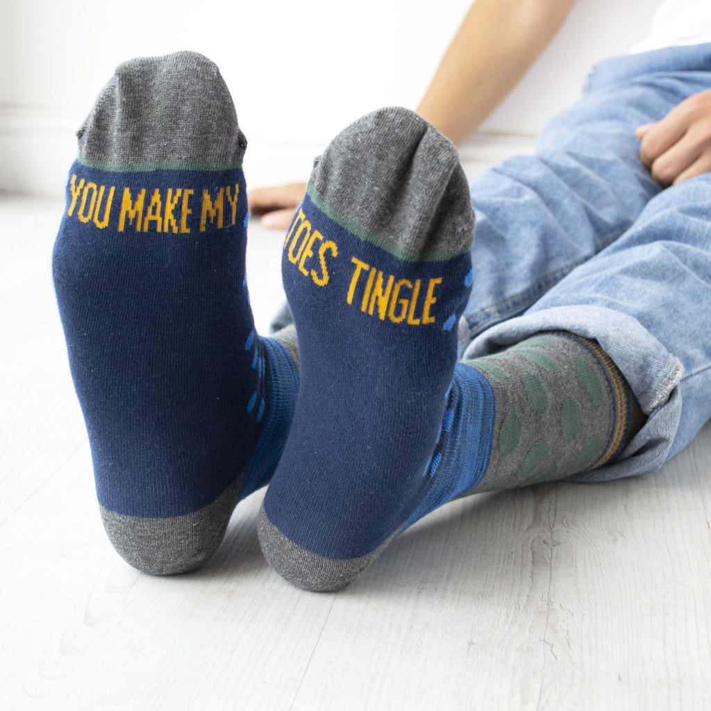 Men's You Make My Toes Tingle Slogan Socks, Socks, - ALPHS