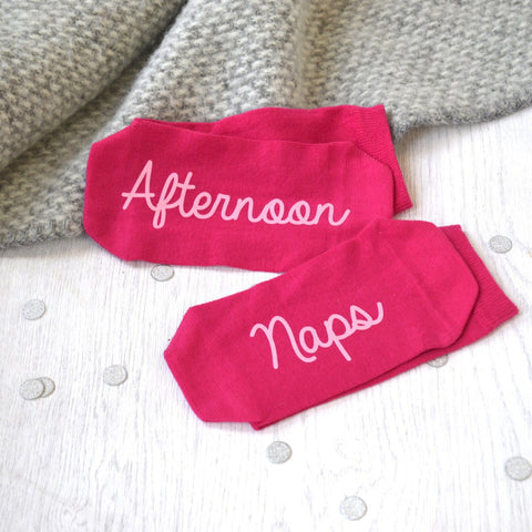 Afternoon Nap Women's Slogan Socks - ALPHS