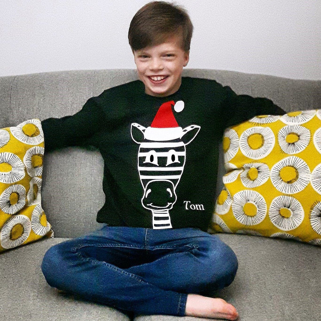 Children's Zebra Christmas Jumper, Jumper, - ALPHS