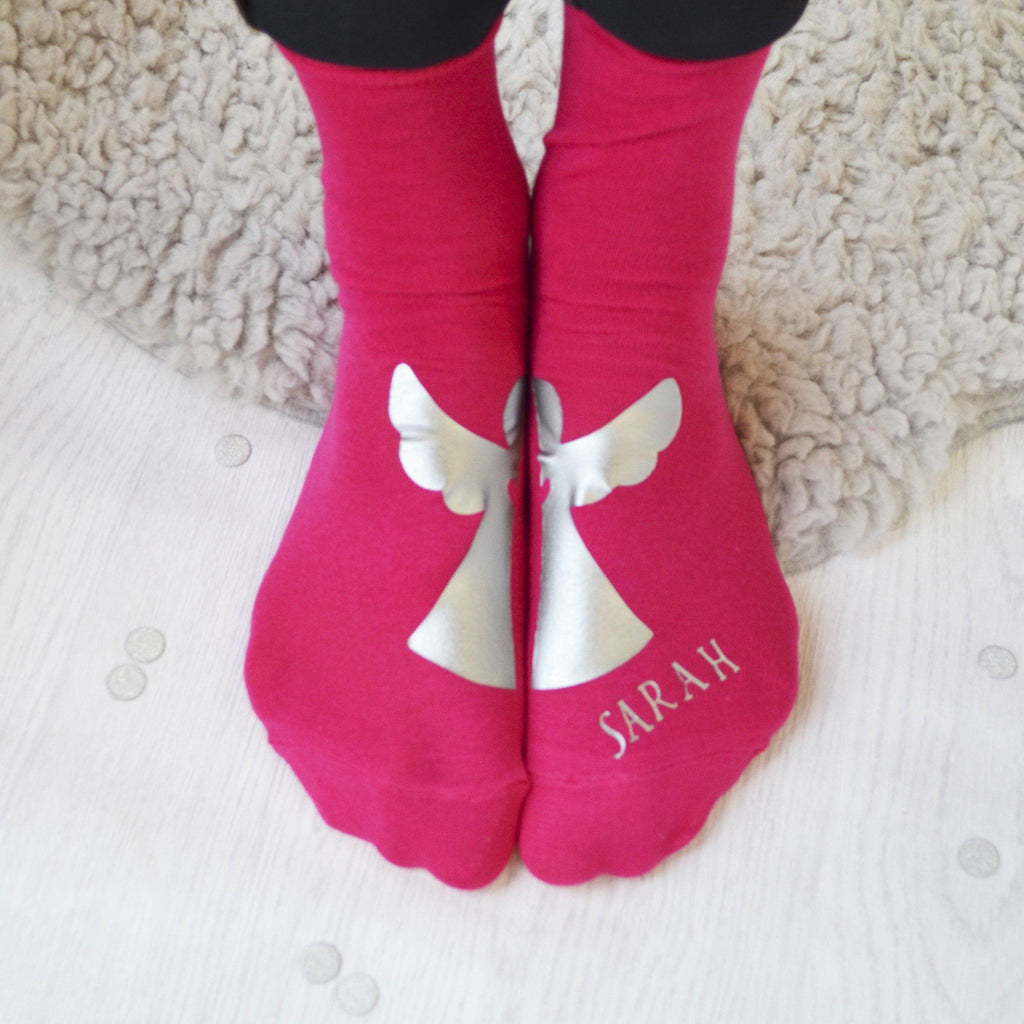 Personalised Angel Socks, socks, - ALPHS