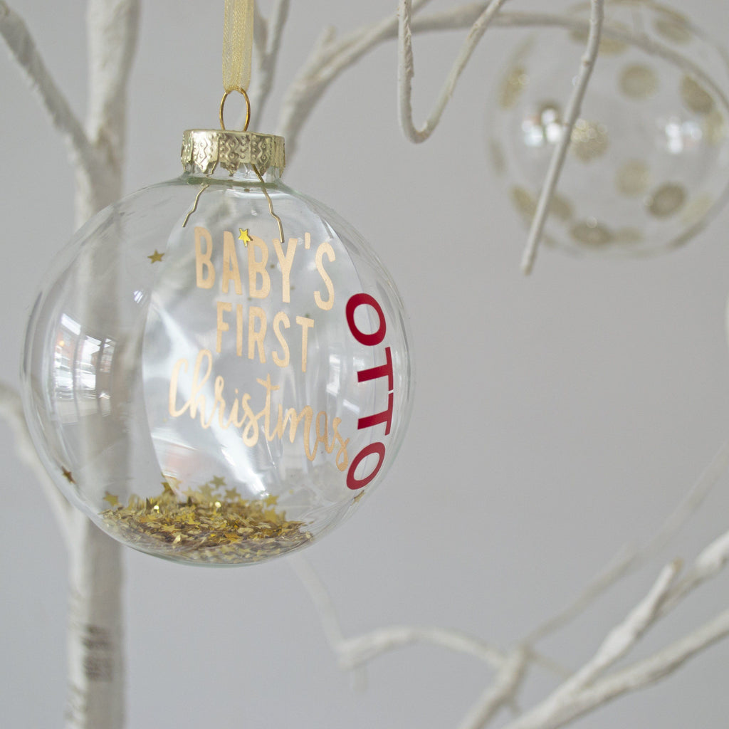 Personalised Baby's First Christmas Bauble, Bauble, - ALPHS