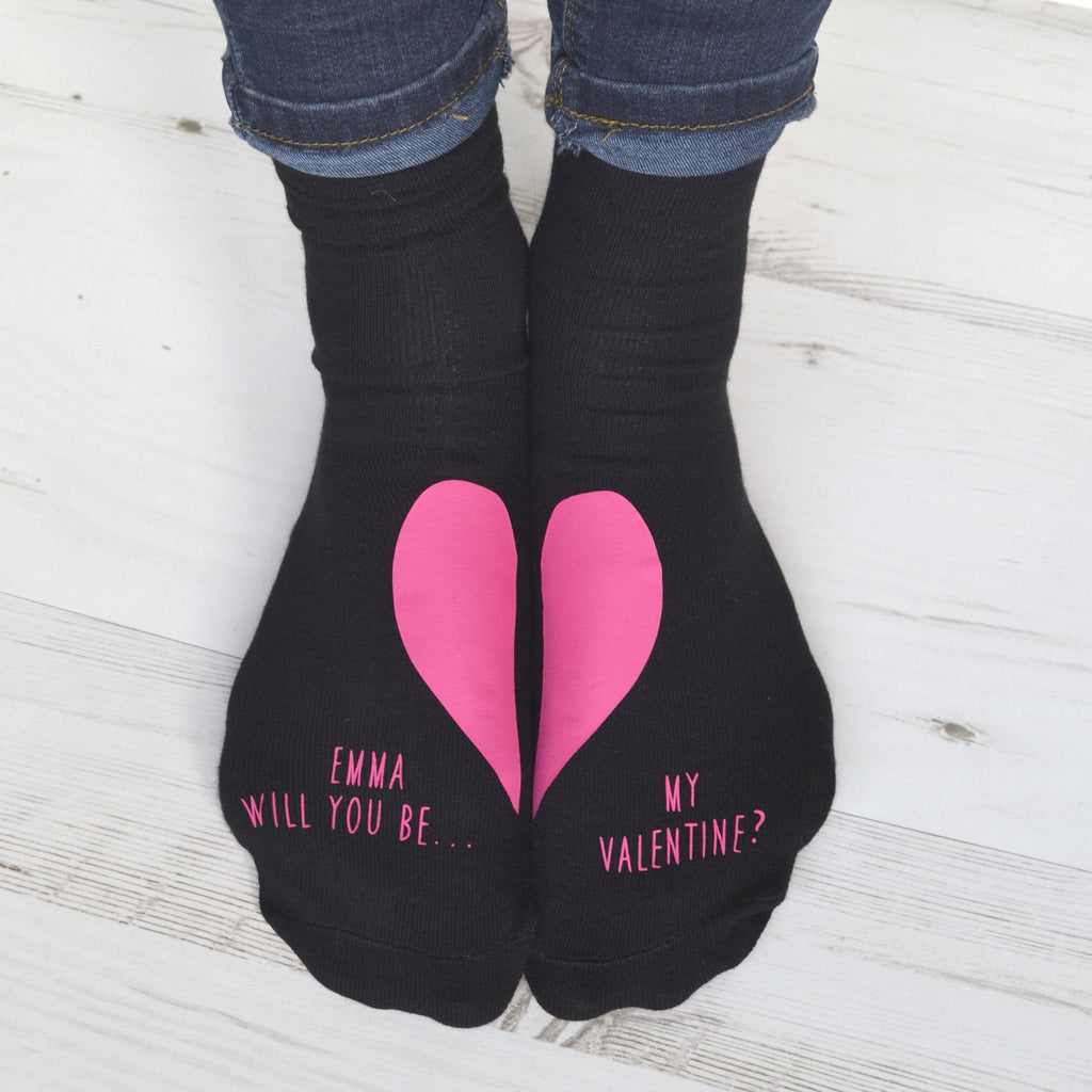 Personalised Gift Socks - Will You Be My Valentine?, socks, - ALPHS