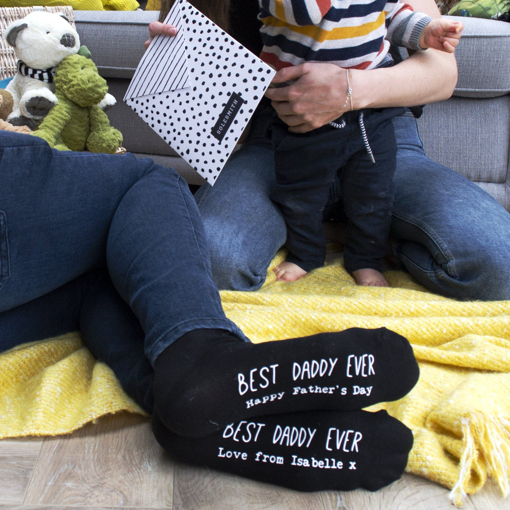 Best Daddy Ever Personalised Socks, socks, - ALPHS