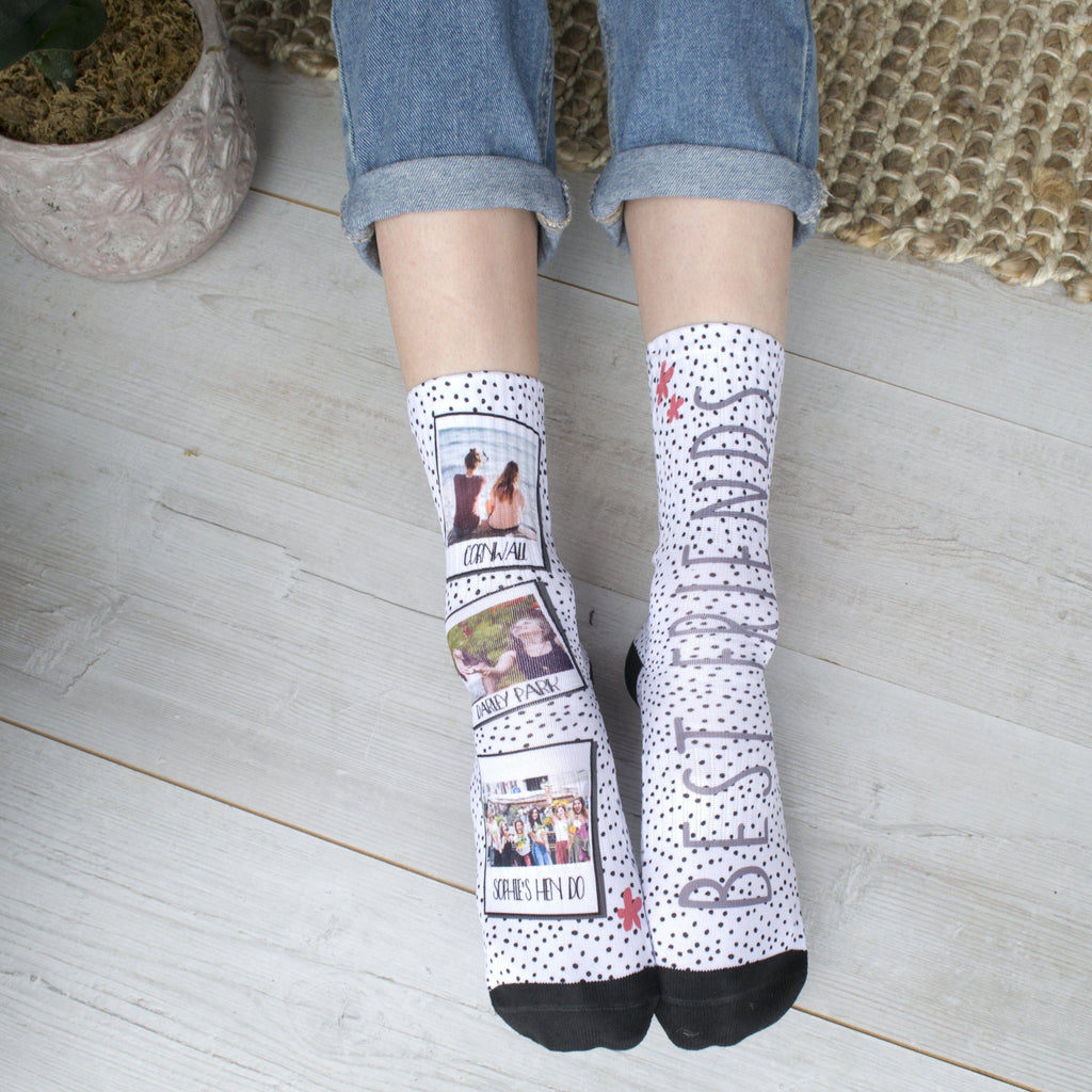 Personalised Best Friend Photo Socks, socks, - ALPHS