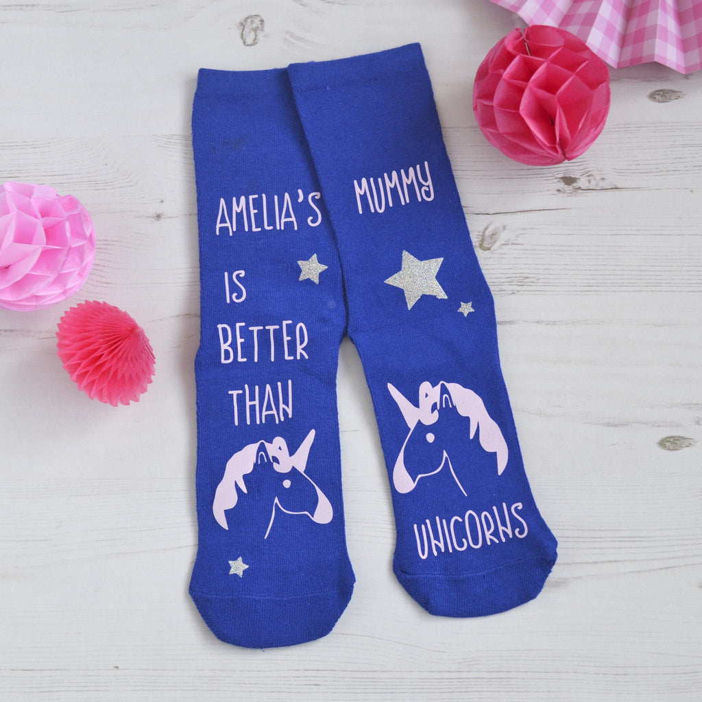 Better Than Unicorns Or Dinosaur Socks, Personalised Socks, - ALPHS