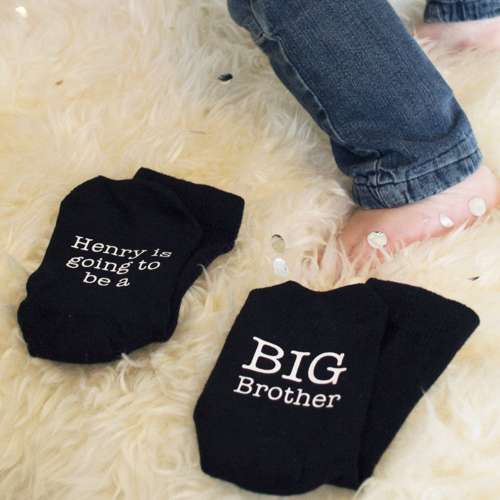 Personalised Big Brother Announcement Socks, Socks, - ALPHS