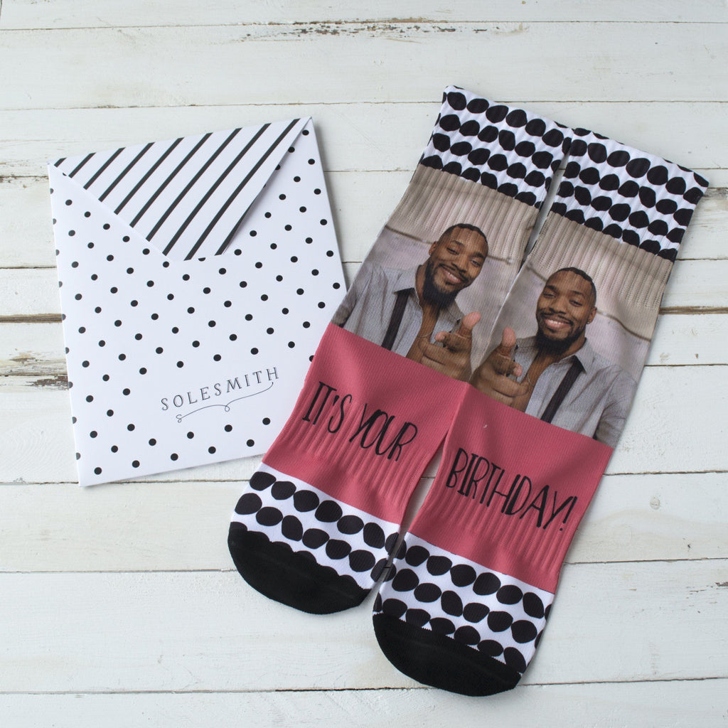 It's My Birthday Photo socks, socks, - ALPHS
