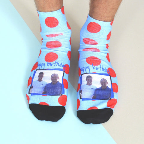 Bold and Bright Photo Socks, socks, - ALPHS