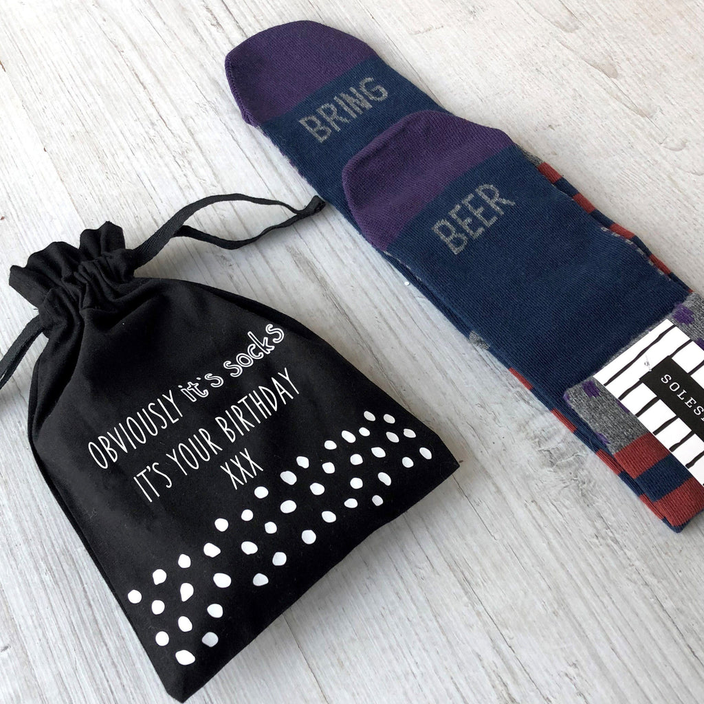Obviously it's Socks Men's Birthday Socks in a Bag, Socks, - ALPHS