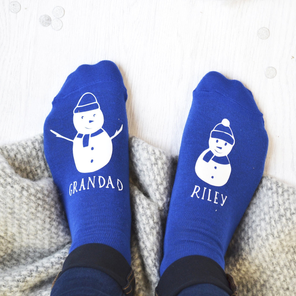 Personalised Snowman And Me Socks - ALPHS  - 1