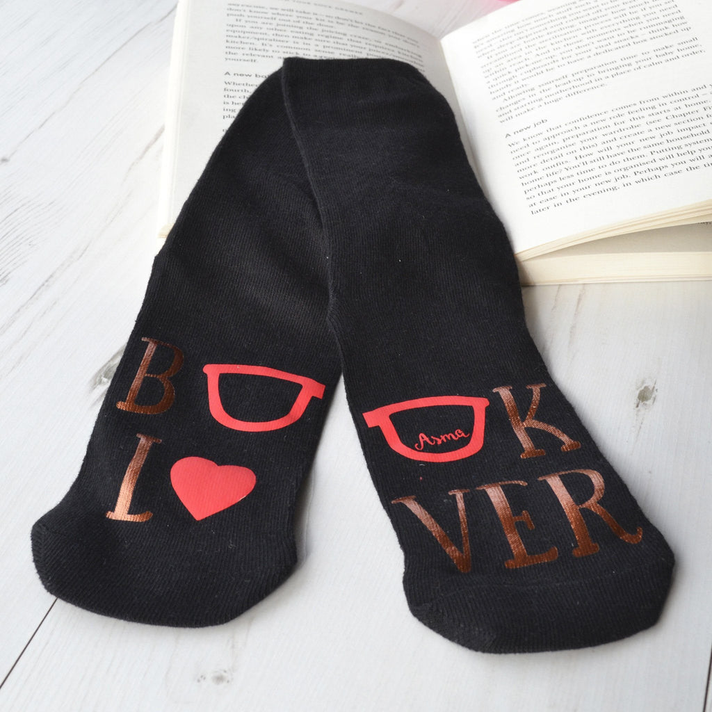 Personalised Socks - Book Lover, Socks, - ALPHS