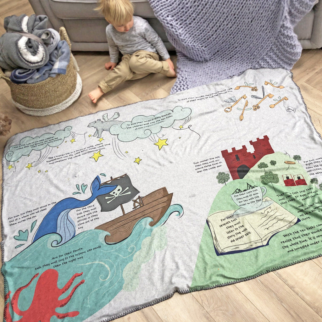 Personalised Book on a Blanket, Blanket, - ALPHS