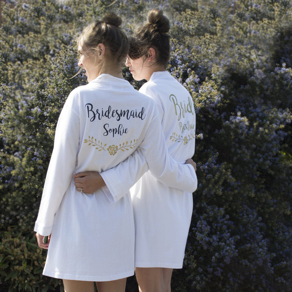 Personalised Cotton Wedding Robe, Robe, - ALPHS