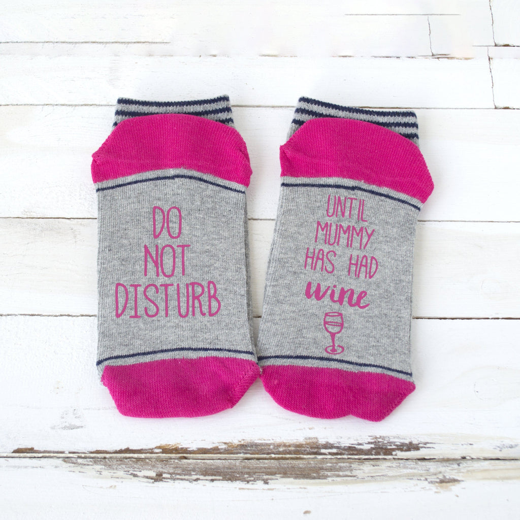 Do Not Disturb Personalised Wine Socks, Socks, - ALPHS