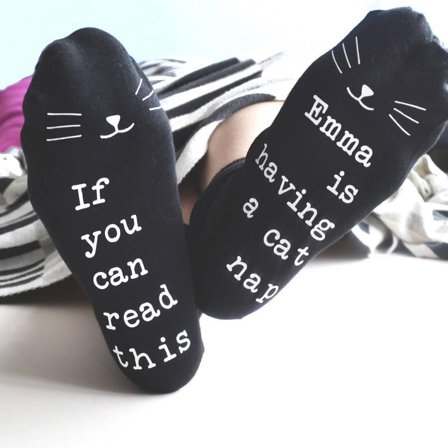 Personalised Cat Nap Socks, Socks, - ALPHS