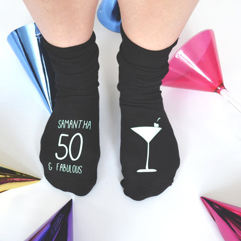 Personalised Cocktail Birthday Socks, socks, - ALPHS