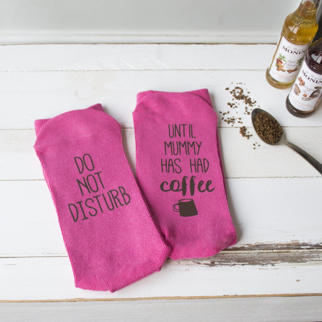 Do Not Disturb Personalised Coffee Socks, Socks, - ALPHS