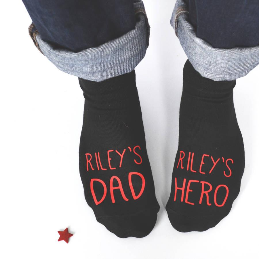 Personalised Dad And Hero Socks, socks, - ALPHS