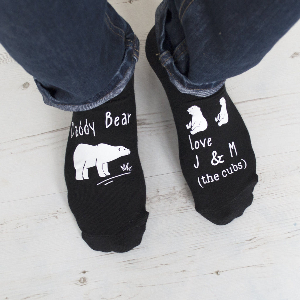 Daddy Bear and His Cubs Personalised Socks, Personalised Socks, - ALPHS