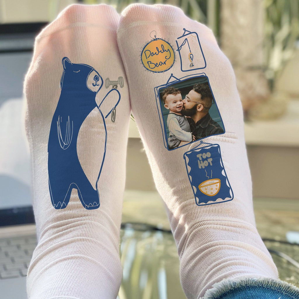 Daddy Bear Photo Socks