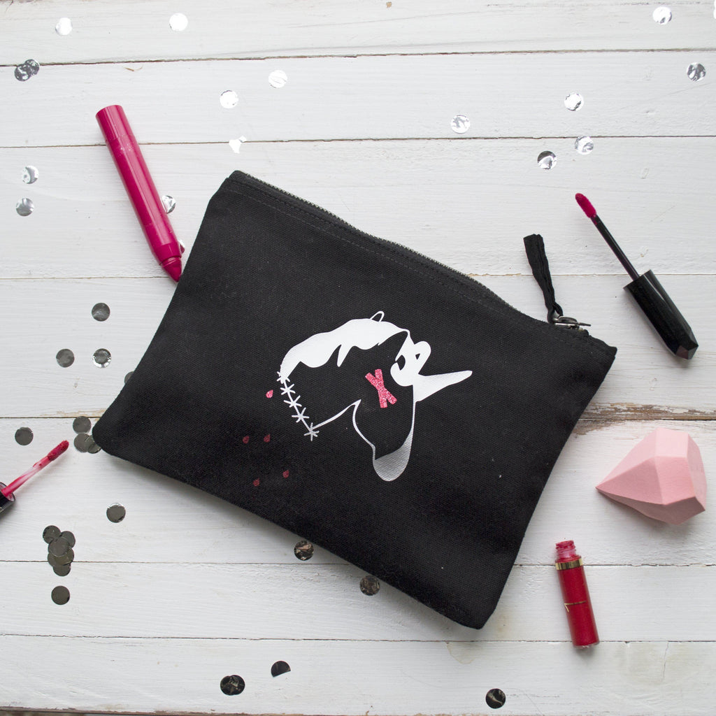 Dead Unicorn Halloween Make Up Pouch, Pouch, - ALPHS