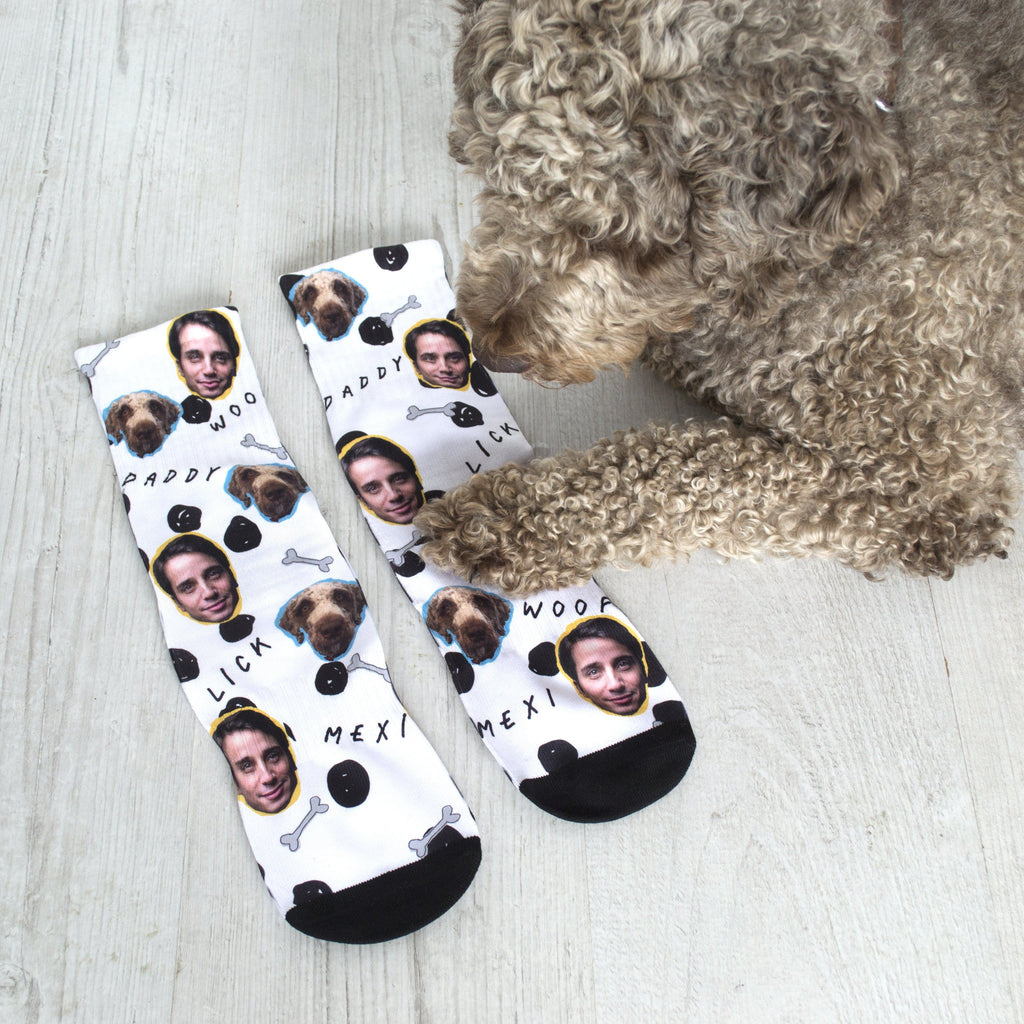 Personalised Dog and Owner Photo Socks, Socks, - ALPHS