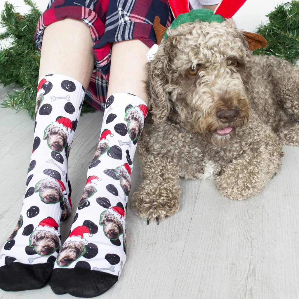 Personalised Christmas Dog Photo Socks, Socks, - ALPHS