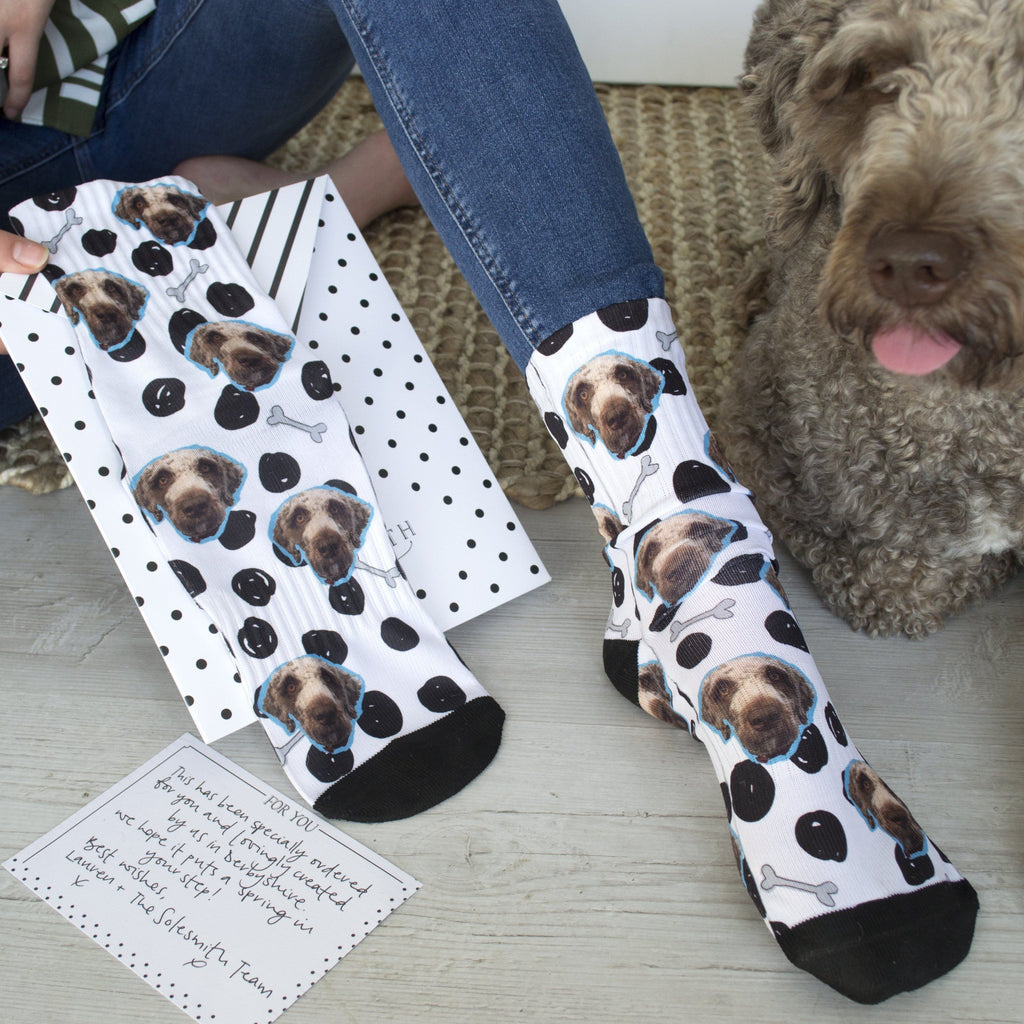 Personalised Dog Pet Photo Socks, Socks, - ALPHS