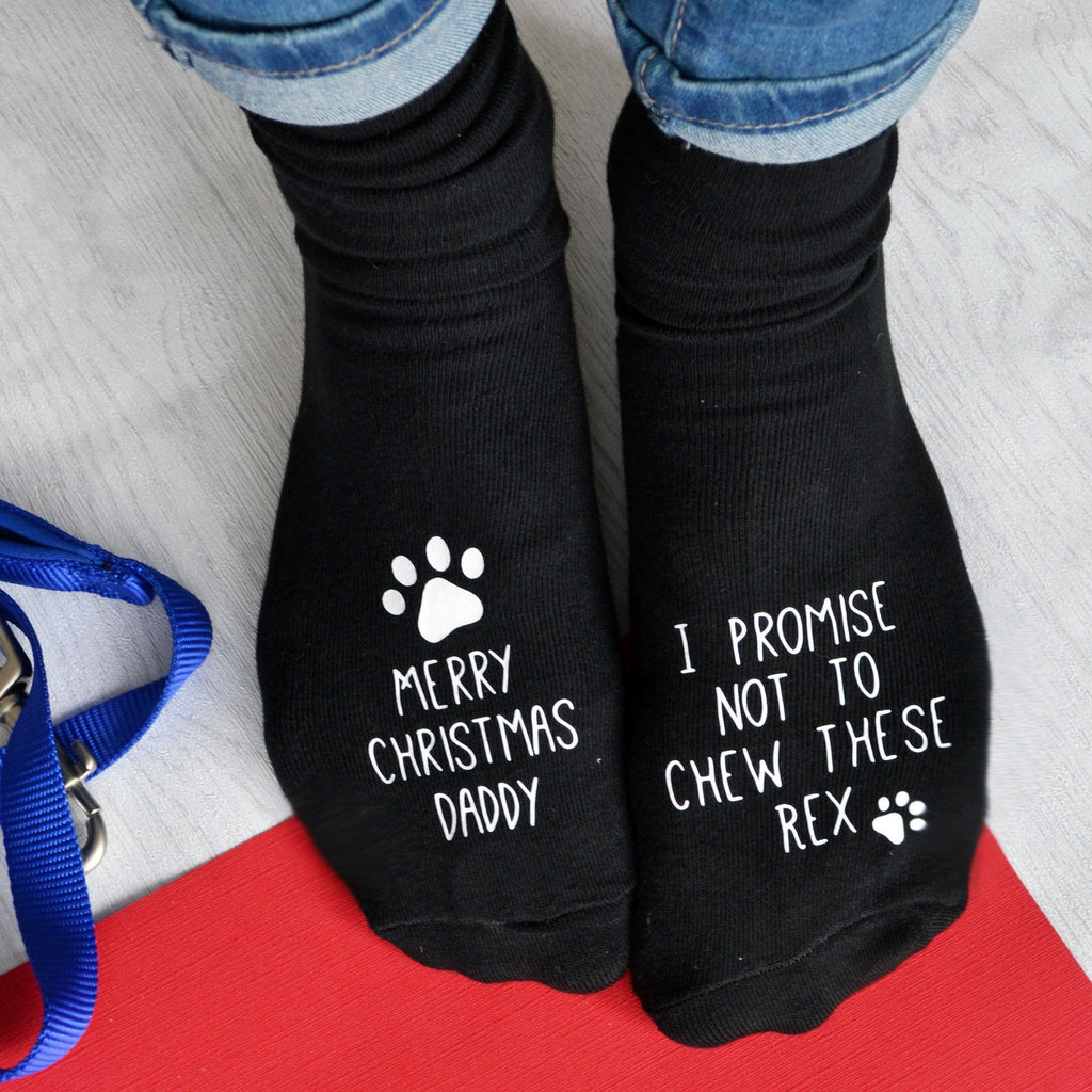 Christmas Socks From The Dog, socks, - ALPHS