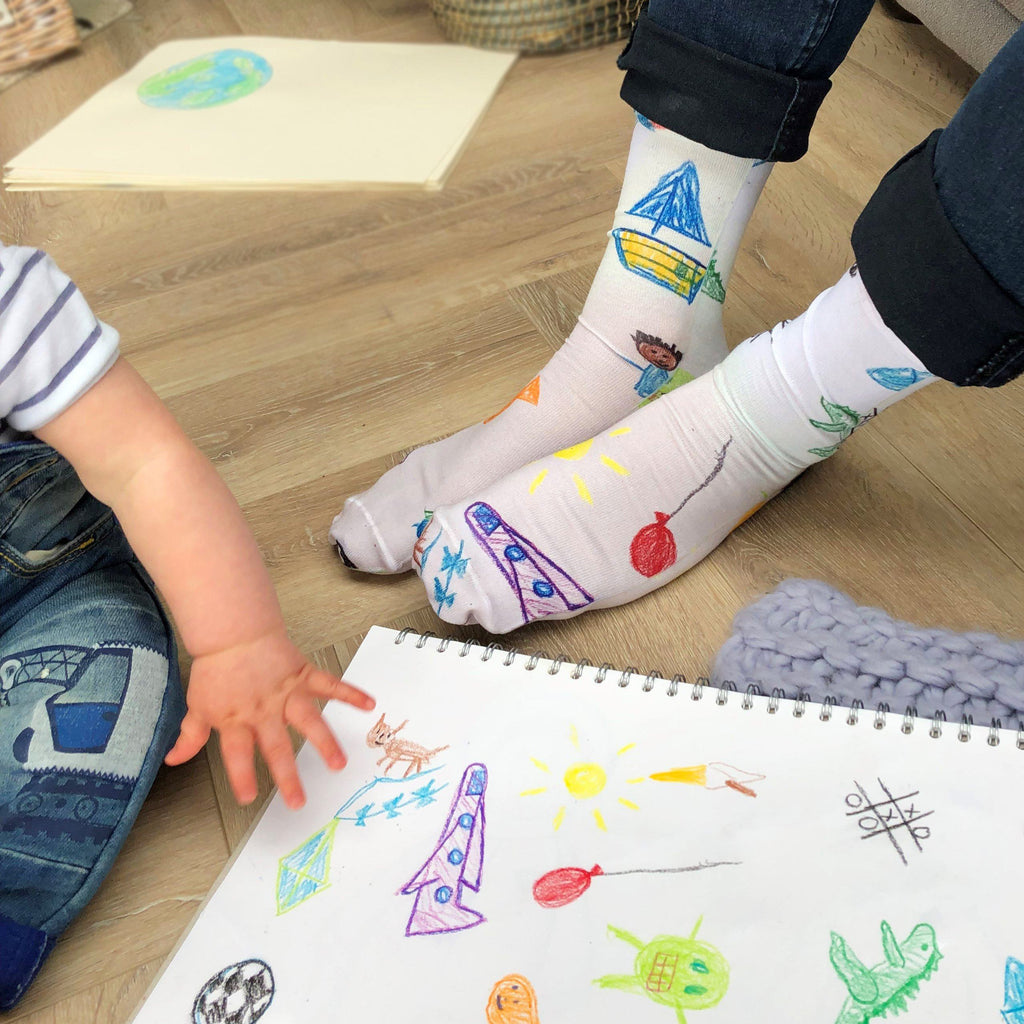 Personalised Socks With Your Child's Drawing