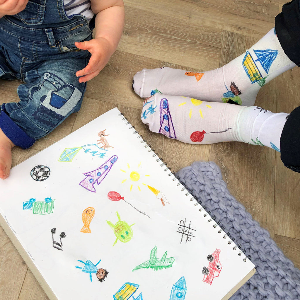 Personalised Socks With Your Child's Drawing, Socks, - ALPHS