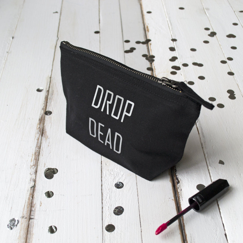 Drop Dead Halloween Make Up Pouch, Make Up Bag, - ALPHS