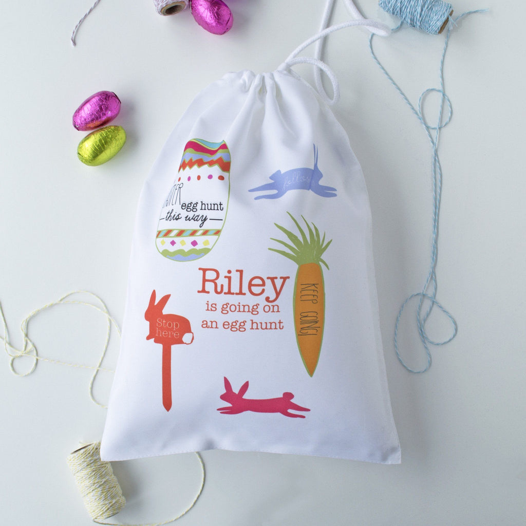 Personalised Easter Egg Hunt Bag, bags, - ALPHS