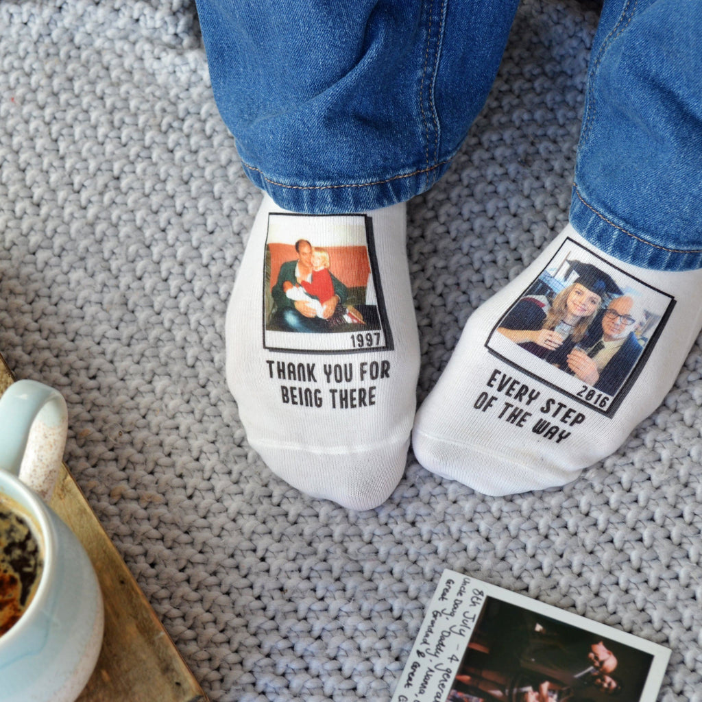With you Every Step of the Way Photo Socks