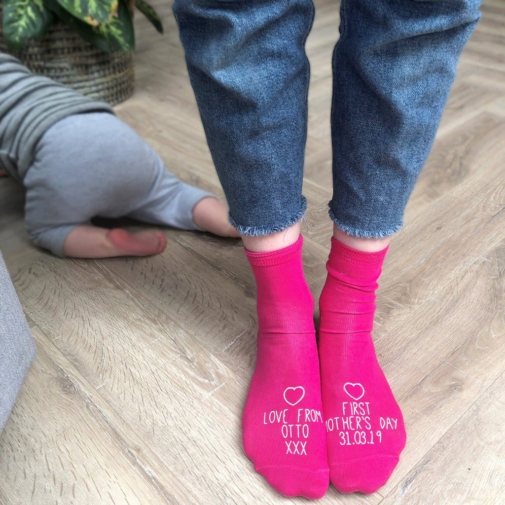 Personalised Socks - First Mother's Day, socks, - ALPHS