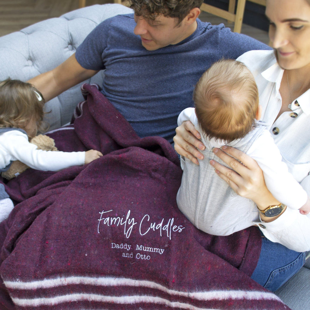 Family Cuddles Personalised Recycled Blanket, Blanket, - ALPHS