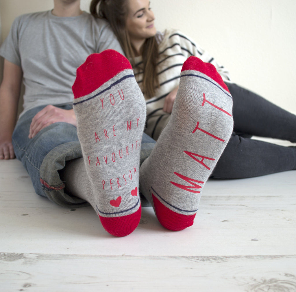 My Favourite Person Personalised Socks, Socks, - ALPHS