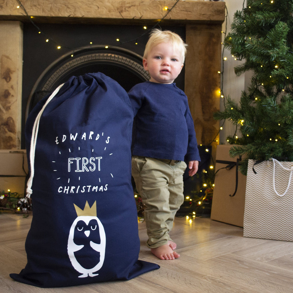 My First Christmas Personalised Sack, sacks, - ALPHS