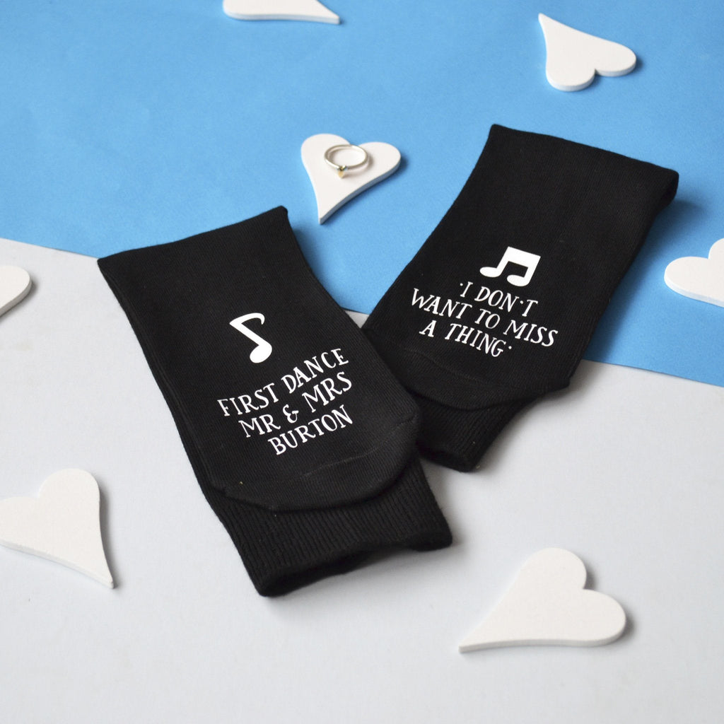 Personalised First Dance Wedding Socks, socks, - ALPHS