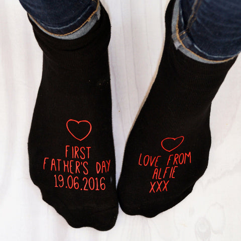 First Father's Day Personalised Socks, Socks, - ALPHS