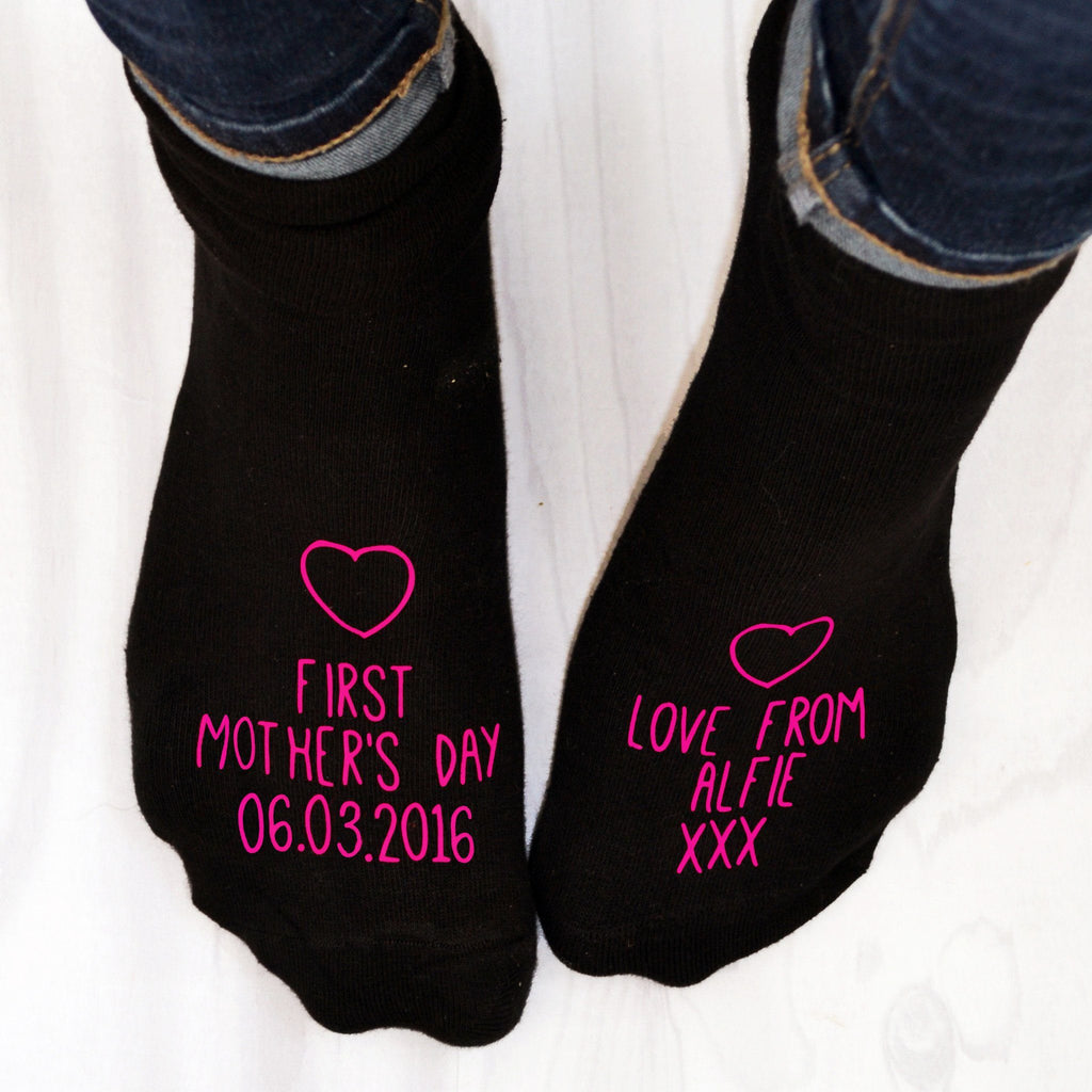 First Mother's Day Personalised Socks, socks, - ALPHS