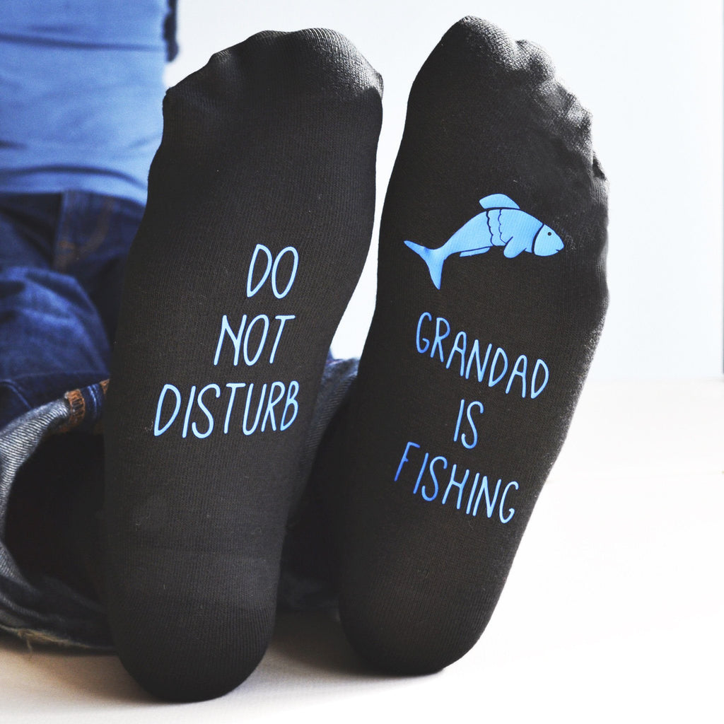 Do Not Disturb, Personalised Fishing Socks, socks, - ALPHS