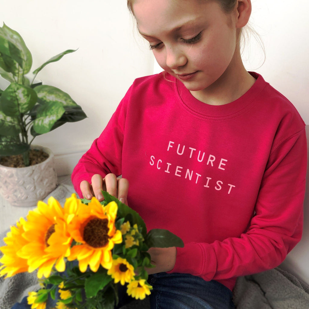 Future Scientist Personalised Girls Slogan Sweatshirt, Sweatshirt, - ALPHS