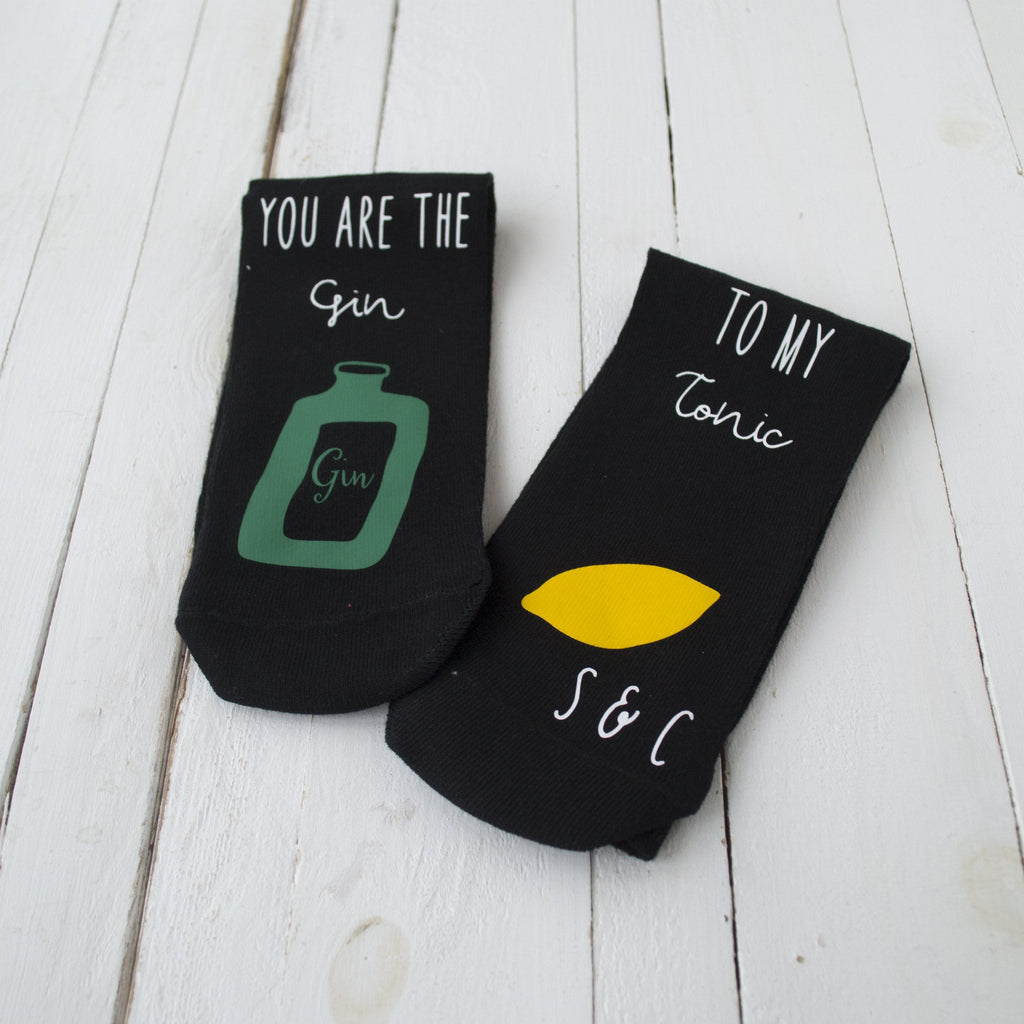 Personalised Gin And Tonic Love Socks, Socks, - ALPHS